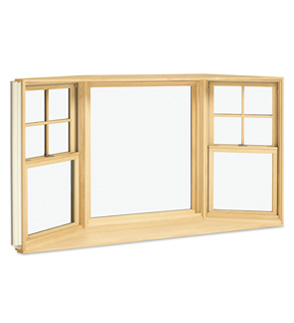 Integrity Fiberglass Wood-Ultrex Bay Window INM