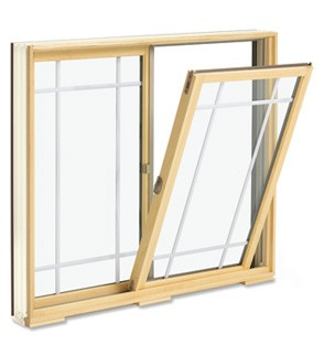 Integrity Fiberglass Wood-Ultrex Glider Window IXM