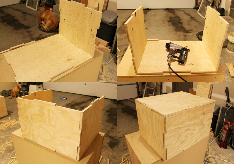 Diy in wood plyo box for fitness tutorials