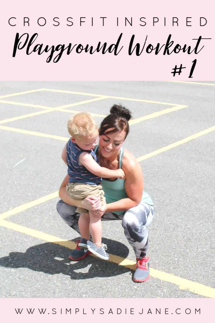 We live for playgrounds in the summer and it's so great to be able to get in a good CrossFit workout out the same time! www.simplysadiejane.com