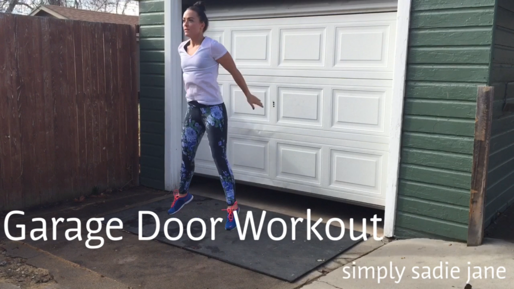 GARAGE DOOR WORKOUT and how-to handstand climb – fitness – video of the week