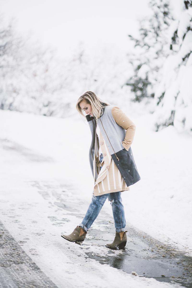 Cozy winter layers | fashion