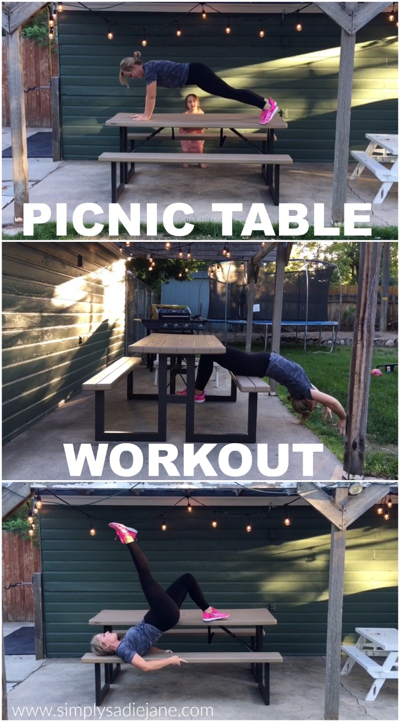 PICNIC TABLE WORKOUT – video of the week – fitness